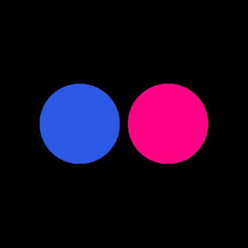 flickr, logo, online, social icon