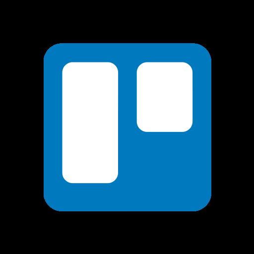 internet, logo, social, trello icon