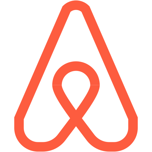 airbnb, hospitality, logo, marketplace, online, service icon