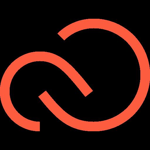 adobe, app, application, cloud, creative, logo, software icon