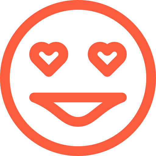 affection, amour, emoji, emotion, face, love, reaction, social icon