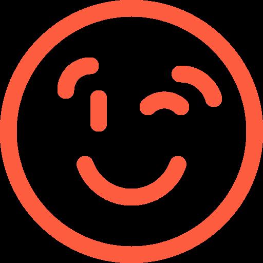 blink, emoji, face, message, poke, social, wink icon