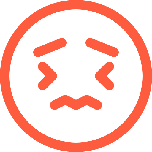 emoji, face, message, social, tearful, worried, worry, zigzag icon