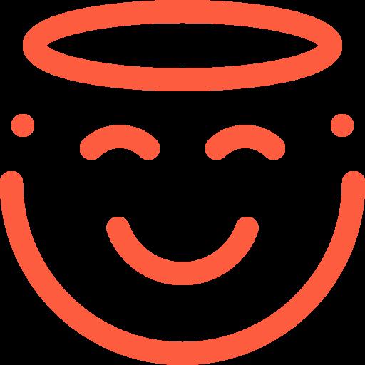 divine, emoji, emotion, face, holy, pure, religious, sacred, saint, social icon