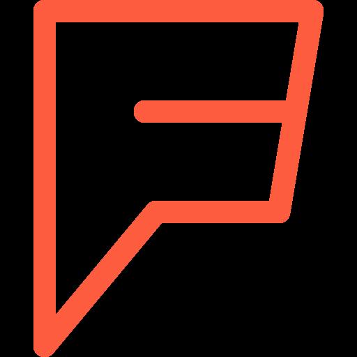discover, foursquare, logo, recommendation, search, service, social icon