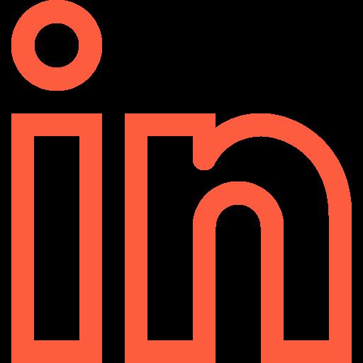 business, in, linked, linkedin, logo, networking, portfolio, professional icon