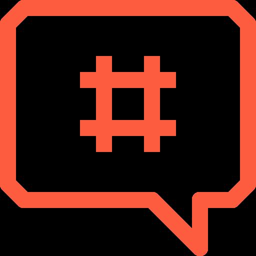 chat, hash, hashtag, message, metadata, social, tag icon