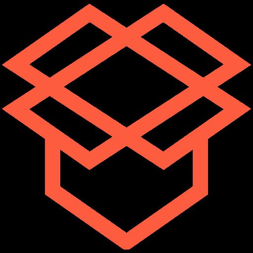 app, application, cloud, dropbox, logo, sharing, storage icon