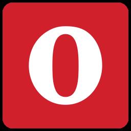 o, opera, orange icon