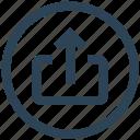 arrow, network, sent, social, up, upload