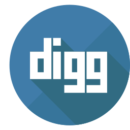 colored, digg, digg it icon