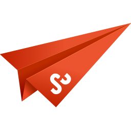 orange, origami, paper plane, social media, stumbleupon icon