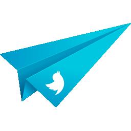 blue, origami, paper plane, social media, twitter icon