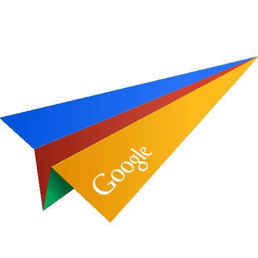 Google Origami Paper Plane Social Media Icon