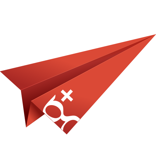 + google plus, google, google plus, google+, googleplus, origami, paper plane, social media icon