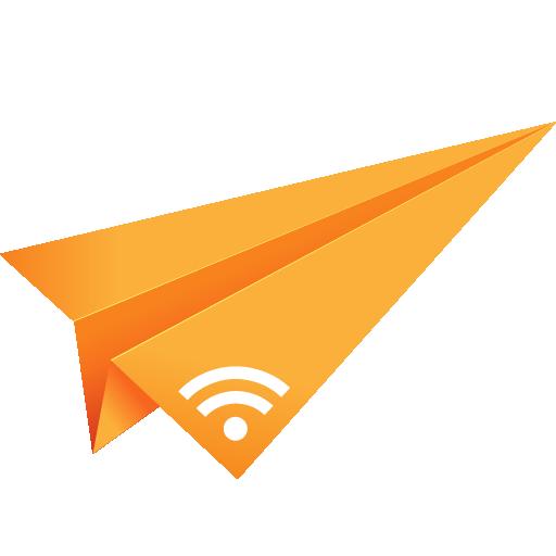 orange, origami, paper plane, rss, social media icon