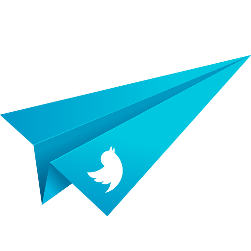 blue, origami, paper plane, social media, twitter icon