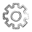 custom, gear, productivity, settings, shape, social icon