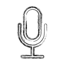 mic, microphone, productivity, shape, social icon