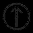 move, productivity, shape, social, up icon