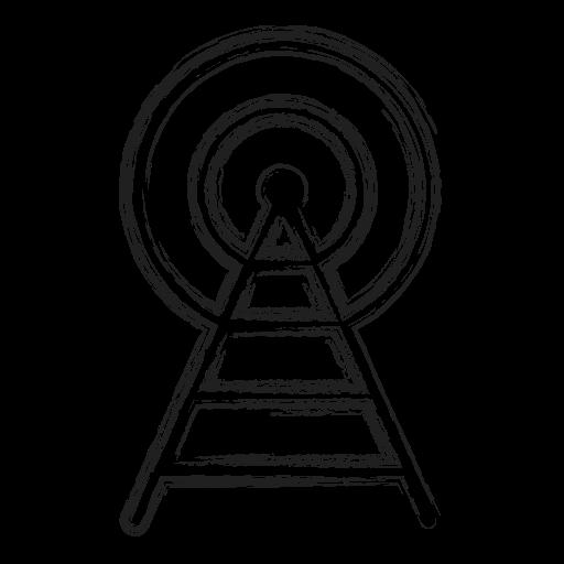 broadcast, productivity, radio, shape, signal, social icon