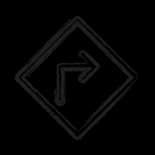 productivity, right, road, shape, sign, social icon