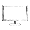 monitor, productivity, shape, social, television, tv icon