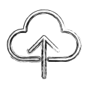 backup, cloud, productivity, shape, social, storage, upload