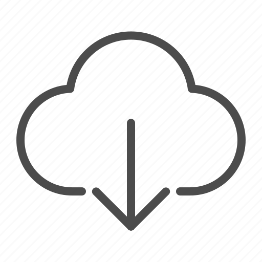 cloud, down, download, downloads, guardar, import, insert, save icon