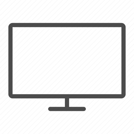 computer, desktop, pc, personal computer, screen, tv, workstation icon