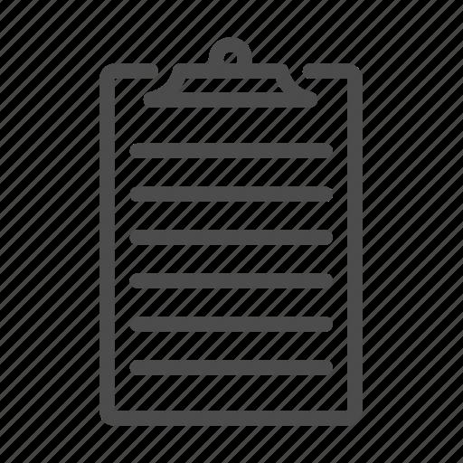 clipboard, document, file, list, report icon
