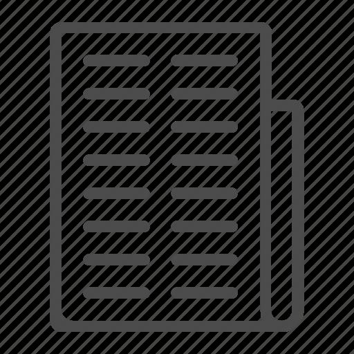 communication, file, internet, media, news, newspaper icon