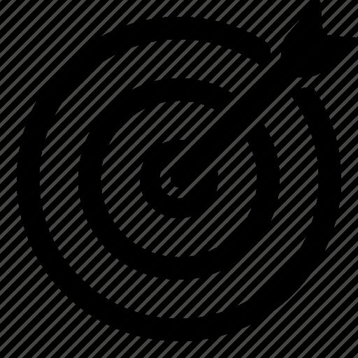 aim, bullseye, business success, goal, marketing, objective, target icon