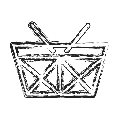 Basket, buy, checkout, productivity, shape, social icon - Free download