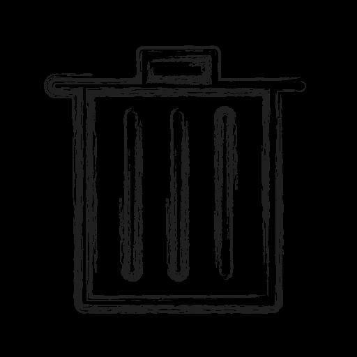 bin, productivity, shape, social, trash icon