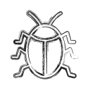 bug, insect, productivity, shape, social icon