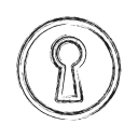 access, door, key, open, productivity, shape, social icon