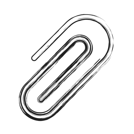attach, clip, paperclip, productivity, shape, social icon