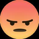angry, emoji, dislike, expression, social, emoticons icon