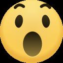 wow, emoji, face, emoticon, emotion, surprised, expression icon
