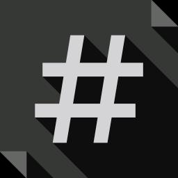 hashtags, logo, media, social, social media, square icon