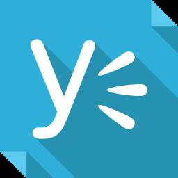 logo, media, social, social media, square, yammer icon