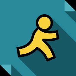 aim, logo, media, social, social media, square icon