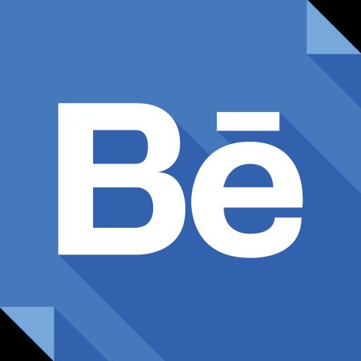 behance, logo, media, social, social media, square icon