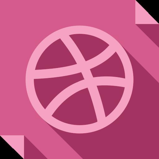 dribbble, logo, media, social, social media, square icon