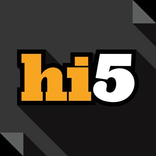 hi, logo, media, social, social media, square icon