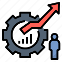 business, cumulatively, development, growth, optimisation icon