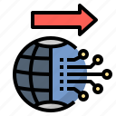 cyber, digital, globalization, innovation, technology icon