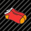 clothing, footwear, garment, high socks, hosiery, knee high, socks icon