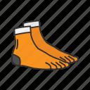 clothing, foot sock, garments, glove sock, mitten toe sock, socks, toe sock icon